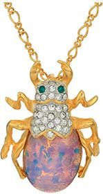 """Kenneth Jay Lane 18"""" Chain with Beetle Pendant Nec"""