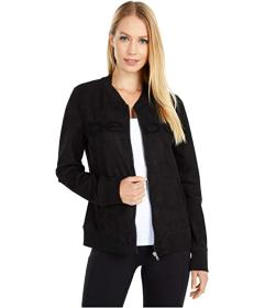 Bebe Sport Sueded Zip Bomber Jacket