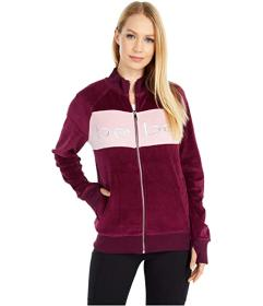 Bebe Sport Color-Block Velour Track Jacket