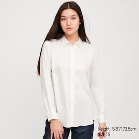 Women Rayon Printed Long-Sleeve Blouse, Off White,