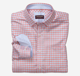 Johnston Murphy Textured Check Patterned Shirt