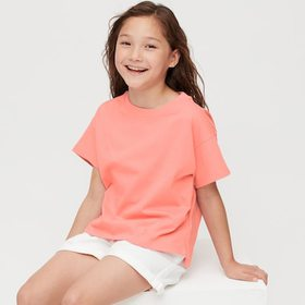 Girls Relaxed Fit Short-Sleeve T-Shirt, Pink, Medi