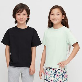 Kids Relax Fit Crew Neck Short-Sleeve T-Shirt, Bla