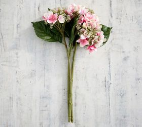 Pottery Barn Faux Budding Hydrangea Bouquet - Pink