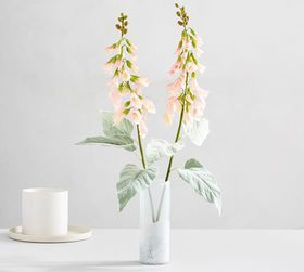Pottery Barn Faux Foxglove Stem - Light Pink