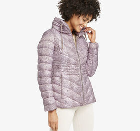 Johnston Murphy Packable Snake-Print Quilted Jacke