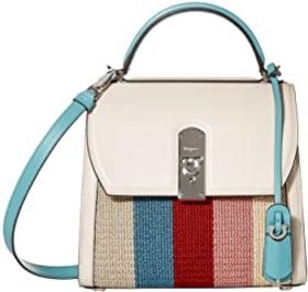 Salvatore Ferragamo Boxyz Knit Top-Handle Bag
