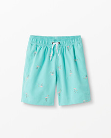 Hanna Andersson Sunblock Embroidered Swim Shorts