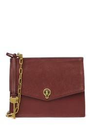 Fossil Stevie Small Suede Crossbody Bag