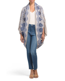 FREE PEOPLE Catania Embroidered Eyelet Kimono