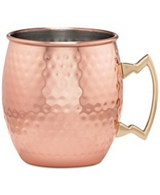 Hammered Copper Moscow Mule Mug with Classic Handl