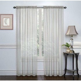 GoodGram 2 Pack: Elegant Sheer Voile Curtain Panel