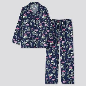 Women Joy Of Print Long-Sleeve Pajamas, Navy, Medi