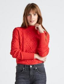 Lucky Brand Bobble Cable Knit Pullover Sweater