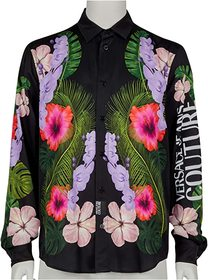 Versace Jeans Couture Tropical Print Long Sleeve S