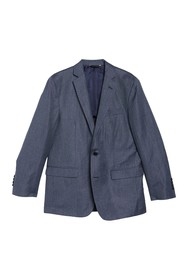 Brooks Brothers Check Print Wool Blend Notch Colla