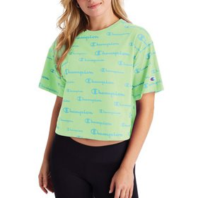 Champion Womens All Over Print Cropped Tee