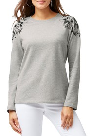 Tommy Bahama Sea Glass Embroidered Top