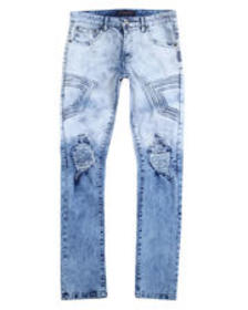 Buyers Picks 3d embossed rip and tear stretch jean