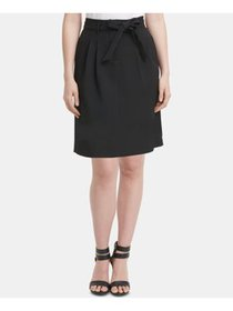 DKNY Womens Black Above The Knee Pencil Wear To Wo