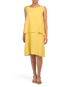 LUNGO L'ARNO Made In Italy Sleeveless Popover Line