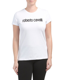 ROBERTO CAVALLI Made In Italy Studded T Shirt
