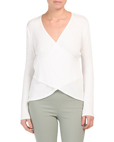 KIM & CAMI Made In Usa Long Sleeve Wrap Style Fron