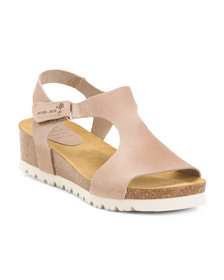 INTERBIOS Made In Spain Band Wedge Sandals