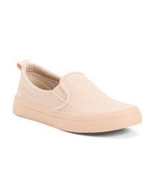 SPERRY Slip On Perforated Leather Sneakers