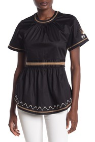 Scotch & Soda Embroidered Flared Blouse