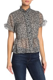French Connection Elvire Lawn Short Sleeve Ruffle