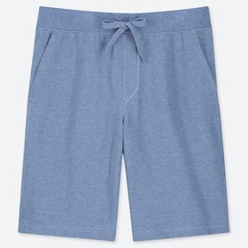 Men Jersey Easy Shorts, Blue, Medium