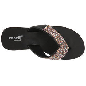 Capelli New York Multi Crystal Thong Sandals