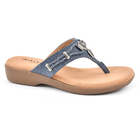 Womens Rialto Bailee Fabric Thong Sandals