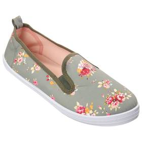 Womens Take A Walk Floral Canvas Flats