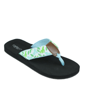 Womens Capelli New York Mini Cactus Print Thong Sa