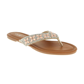 Womens Capelli New York Gem Trim Thong Sandals