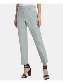 DKNY Womens Teal Wear To Work Pants Petites Size: