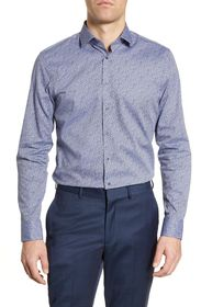 CALIBRATE Trim Fit Floral Dress Shirt
