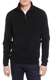 NORDSTROM MEN'S SHOP Regular Fit Cashmere Quarter