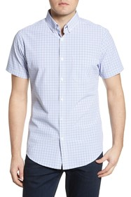 MIZZEN AND MAIN Richmond Check Short Sleeve Button