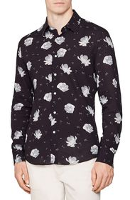 REISS Phoenix Slim Fit Floral Print Button-Up Shir