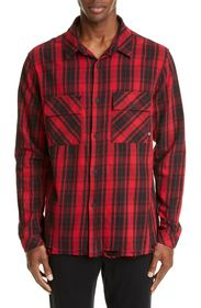 Marcelo Burlon County Check Plaid Button-Up Flanne
