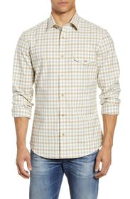 NORDSTROM MEN'S SHOP Trim Fit Check Flannel Button