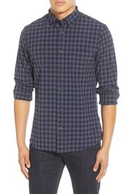 NORDSTROM MEN'S SHOP Trim Fit Check Button-Down Sh