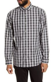 CALIBRATE Trim Fit Check Button-Up Shirt
