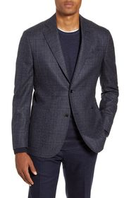 Nordstrom Signature Plaid Trim Fit Sports Coat