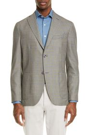 BOGLIOLI Slim Fit Check Wool & Silk Sport Coat