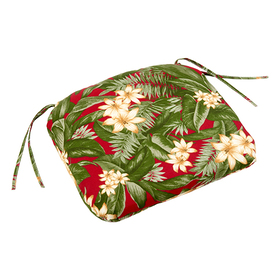 Leaf and Floral Seat Cushion