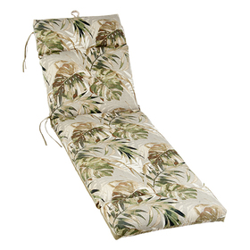 Leaf and Stripes Outdoor Chaise Cushion